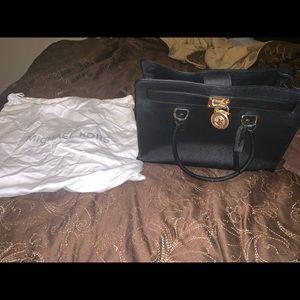 MK Hamilton large satchel Gold chain